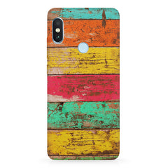 Strips of old painted woods  Xiaomi 6 Pro hard plastic printed back cover
