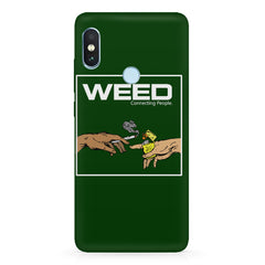 Weed connecting people  Xiaomi 6 Pro hard plastic printed back cover