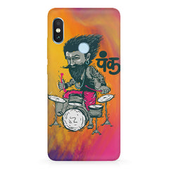 Punk baba drumroll  design,   Xiaomi MI A2, 20 motivational cases hard plastic printed back cover.