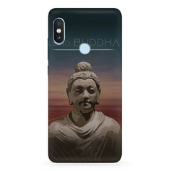 Lord Buddha peace  design,   Xiaomi MI A2, 20 motivational cases hard plastic printed back cover.