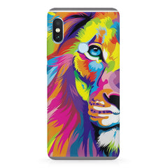 Colourfully Painted Lion design,   Xiaomi MI A2, 20 girly cases hard plastic printed back cover.