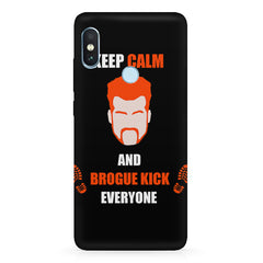 Keep calm and Brougue Kick everyone  design,   Xiaomi MI A2 hard plastic printed back cover.