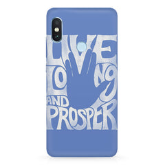 Live long and Prosper- Star trek  design,   Xiaomi MI A2, 20 girly cases hard plastic printed back cover.