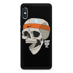 Skull Funny Just Did It !  design,   Xiaomi MI A2 hard plastic printed back cover.
