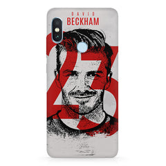 David Beckhan 23 Real Madrid design,   Xiaomi MI A2 hard plastic printed back cover.