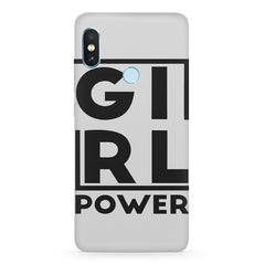 Girl power deisgn  Xiaomi MI A2, 20 motivational cases hard plastic printed back cover.