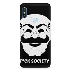 Fuck society design  Xiaomi MI A2, 20 motivational cases hard plastic printed back cover.