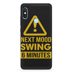 Warning for Next mood swing Xiaomi 6 Pro hard plastic printed back cover