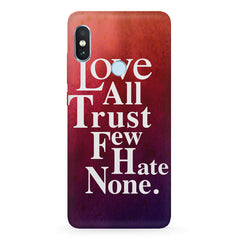 Inspirational quotes design  Xiaomi MI A2, 20 motivational cases hard plastic printed back cover.
