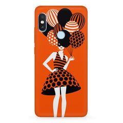 Girl and the balloons design,  Xiaomi MI A2, 20 girly cases hard plastic printed back cover.