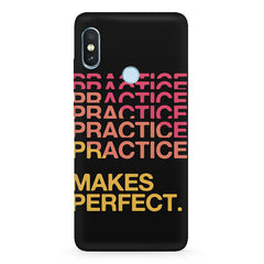 Practise makes perfect design  Xiaomi MI A2, 20 motivational cases hard plastic printed back cover.