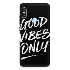 Good vibes only design  Xiaomi MI A2 hard plastic printed back cover.