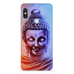 Lord Buddha design  Xiaomi Redmi Y2 hard plastic printed back cover.
