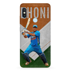 M.S Dhoni Batting with an Indian flag in  the background Xiaomi 6 Pro hard plastic printed back cover