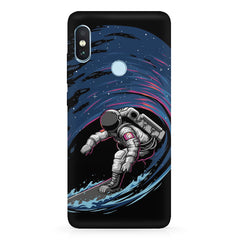 Astronaut space surfing design Xiaomi 6 Pro hard plastic printed back cover