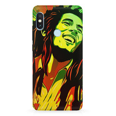 Bob Marley Multi colour fun Portrait Painting  capturing him in his happy avatarXiaomi 6 Pro hard plastic printed back cover