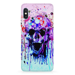 Skull with colour dripping design Xiaomi 6 Pro hard plastic printed back cover