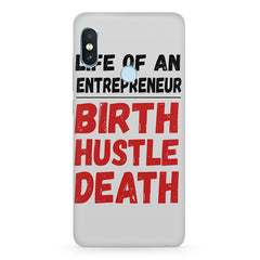 Life of an entrepreneur quote design Xiaomi MI A2, 20 motivational cases all side printed hard back cover by Motivate box Xiaomi MI A2, 20 motivational cases hard plastic printed back cover.
