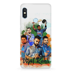 Virat Kohli over the years collage Design  Xiaomi Redmi note 5 pro hard plastic printed back cover.