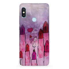 Lost in the world of Lipsticks design Xiaomi 6 Pro hard plastic printed back cover
