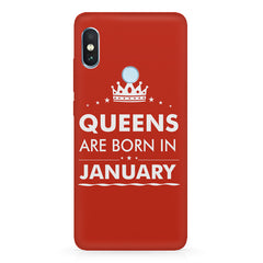 Queens are born in January quote design Xiaomi 6 Pro hard plastic printed back cover