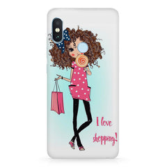 I love Shopping Girly design Xiaomi 6 Pro hard plastic printed back cover