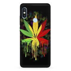 Marijuana colour dripping design Xiaomi 6 Pro hard plastic printed back cover