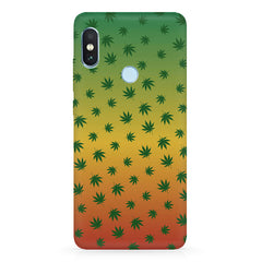 Multicolour leaf overall design Xiaomi 6 Pro hard plastic printed back cover
