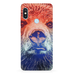 Zoomed Bear Design  Xiaomi Redmi Y2 hard plastic printed back cover.