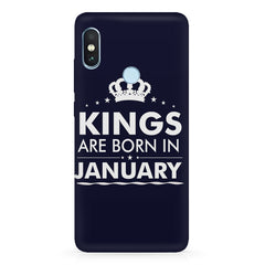 Kings are born in January design Xiaomi Redmi Y2 all side printed hard back cover by Motivate box Xiaomi Redmi Y2 hard plastic printed back cover.