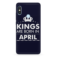 Kings are born in April design Xiaomi Redmi Y2 all side printed hard back cover by Motivate box Xiaomi Redmi Y2 hard plastic printed back cover.
