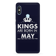 Kings are born in May design Xiaomi Redmi Y2 all side printed hard back cover by Motivate box Xiaomi Redmi Y2 hard plastic printed back cover.