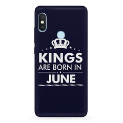 Kings are born in June design Xiaomi Redmi Y2 all side printed hard back cover by Motivate box Xiaomi Redmi Y2 hard plastic printed back cover.