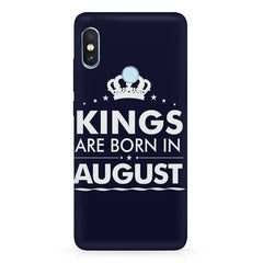 Kings are born in August design Xiaomi Redmi Y2 all side printed hard back cover by Motivate box Xiaomi Redmi Y2 hard plastic printed back cover.