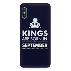 Kings are born in September design Xiaomi Redmi Y2 all side printed hard back cover by Motivate box Xiaomi Redmi Y2 hard plastic printed back cover.