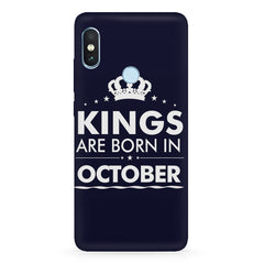 Kings are born in October design Xiaomi Redmi Y2 all side printed hard back cover by Motivate box Xiaomi Redmi Y2 hard plastic printed back cover.