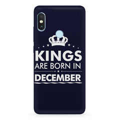Kings are born in December design Xiaomi Redmi Y2 all side printed hard back cover by Motivate box Xiaomi Redmi Y2 hard plastic printed back cover.