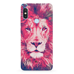 Zoomed pixel look of Lion design Xiaomi 6 Pro hard plastic printed back cover