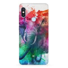 colourful portrait of Elephant Xiaomi Redmi Y2 hard plastic printed back cover.