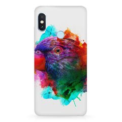 Colourful parrot design Xiaomi Redmi Y2 hard plastic printed back cover.