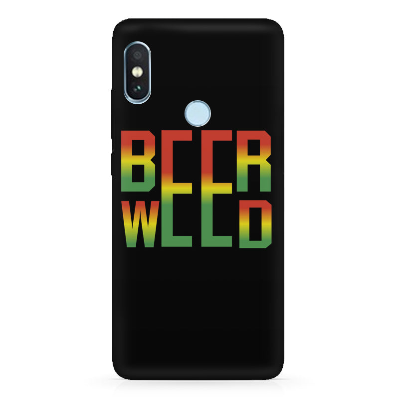 huge selection of 119c6 00f24 Beer Weed Xiaomi Redmi note 5 pro hard plastic printed back cover.