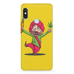 Sardar dancing with Beer and Marijuana  Xiaomi Redmi Y2 hard plastic printed back cover.
