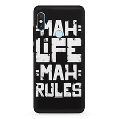Mah Life Mah Rules Quirky design,   Xiaomi MI A2, 20 girly cases hard plastic printed back cover.