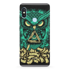 Owl Art design,   Xiaomi MI A2, 20 girly cases hard plastic printed back cover.