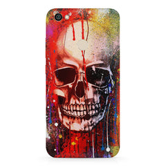 Skull Design with Holi colours dripping Xiaomi Mi Y1 hard plastic printed back cover