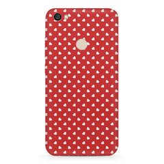 Cute hearts all over the cover design    Xiaomi Mi Y1 hard plastic printed back cover
