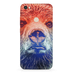 Zoomed Bear Design  Redmi 5 hard plastic printed back cover.