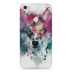 Splashed colours Wolf Design Redmi 5 hard plastic printed back cover.