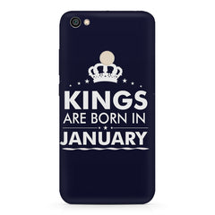 Kings are born in January design    Xiaomi Mi Y1 hard plastic printed back cover