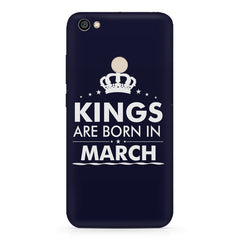 Kings are born in March design    Xiaomi Mi Y1 hard plastic printed back cover